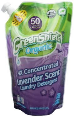 GreenShield Organic 4x Concentrated Laundry Detergent is made with non-toxic, USDA certified #organic ingredients that are not tested on animals! Also this hypo-allergenic detergent's package reduces solid waste by over 80% vs. rigid containers!