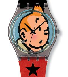 0f4fbff4abc Swatch Les Adventures De Tintin Watch (GM165)