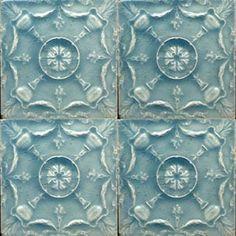 Victorian Majolica - 1890 to 1910 - Ceramic Tiles Victorian Tiles, Antique Tiles, Vintage Tile, Vintage Ceramic, Victorian Era, Art Nouveau Tiles, Art Deco, Mosaic Glass, Mosaic Tiles
