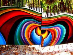 Fence art in Mexico