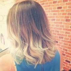 Balayage with hints of sky blue Kylie King, Sky, Long Hair Styles, Colors, Blue, Beauty, Heaven, Heavens, Long Hairstyle