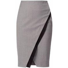 WtR London - Marylebone Double Layer Pencil Skirt  Grey