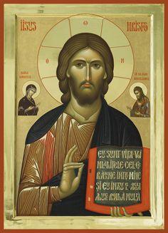 Icon of Jesus Religious Images, Religious Icons, Religious Art, Greek Icons, Jesus Christ Quotes, Christ Is Risen, Byzantine Icons, Orthodox Icons, Christian Art
