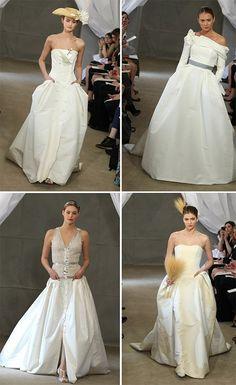 Unconventional Wedding Dresses with Pockets