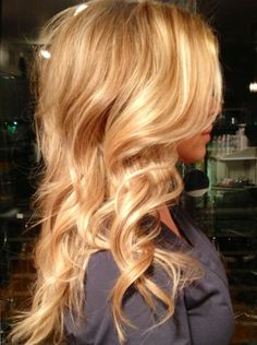 Beautiful blonde Balayage with Extensions By Stylist Leah Villagran