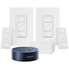 $159.89 - All-New Echo Dot 2nd Generation - Black  Lutron Caseta Wireless Deluxe Smart Lighting Control Kit