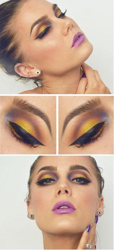 47 Ideas makeup artist outfit linda hallberg for 2019 - Makeup Looks Yellow Eye Makeup Tips, Makeup Blog, Beauty Makeup, Linda Hallberg, Gorgeous Makeup, Love Makeup, Full Makeup, Yellow Makeup, Creative Makeup Looks