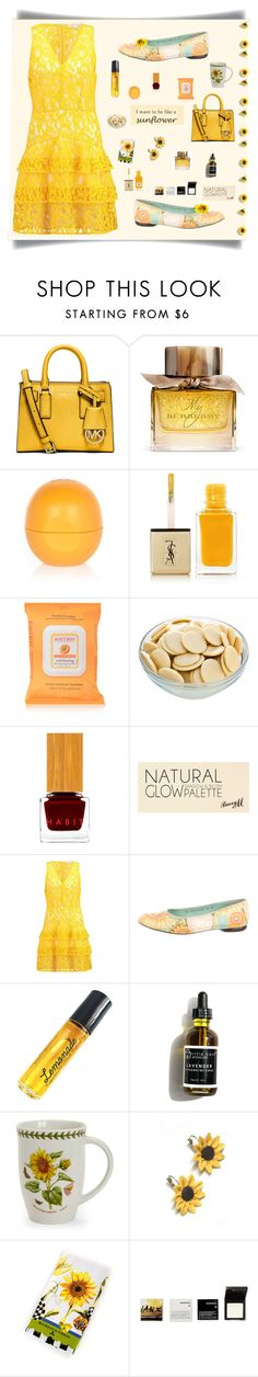 """"""" #252"""" by wonderful-paradisaical ❤ liked on Polyvore featuring MICHAEL Michael Kors, Burberry, River Island, Yves Saint Laurent, Burt's Bees, Habit Cosmetics, Salvatore Ferragamo, I'm Fabulous, Portmeirion and Summer and Silver"""