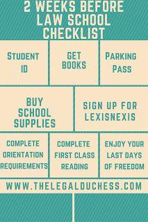 The final 2 weeks before Law School Checklist School Checklist, School Essentials, Law School Application, Harvard Law, School Admissions, Harvard Business School, School Signs, Education College, Graduate School