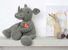 Crochet this adorable, specially designed amigurumi rhino. What a delightful toy to help teach kids about the plight of this endangered animal.