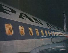 Beautiful Night shot of a Pan Am 707. 1960's