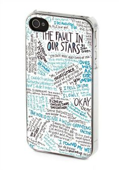 iPhone case, iPhone 4/4s case, iPhone 5 case, Samsung Galaxy s3/s4 case, The Fault in Our Stars