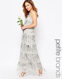 3e94787ba7 Maya Petite Layered Maxi Dress With All Over Embellishment at asos.com