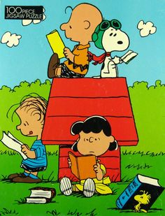 The Peanuts gang loves to read.