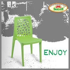 #Export-quality #ENJOY #chairs from #Swagath are #moulded in 100 percent virgin #polymers and the #airy #backrest makes it #flexible and comfortable. These products are available in different #colors to suite your #interiors and give a modern look. Get more information at www.swagath.co today!!