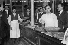 This 1910 photo shows a Syrian pastry counter in the Little Syria neighborhood of Lower Manhattan in New York. Little Syria was a neighborhood that existed between the 1880s and 1940s in Lower Manhattan and was composed of Arab-Americans, both Christians and Muslims, who arrived from what is now Syria and surrounding countries. (Bain News Service/Library of Congress)