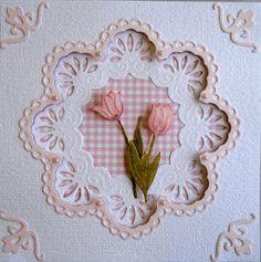 beautiful card using marianne dies