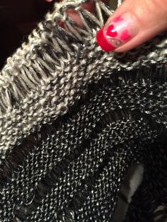 My 3 Shades OF Gray Cowl in the works