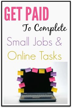 Get Paid to Complete Online Tasks and Easy Jobs - No Experience! Learn how you can get paid to complete simple online tasks and make money at them. You may be completing data entry tasks, taking online surveys, testing websites, and more. Earn Money From Home, Earn Money Online, Make Money Blogging, Way To Make Money, How To Make, Money Tips, Win Money, Saving Money, Online Income