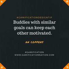Daily #GamificationDesignTip: Buddies with similar goals can keep each other motivated #gamification