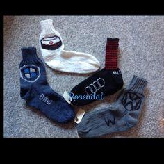 Strømper med billogo mm. Sokker.