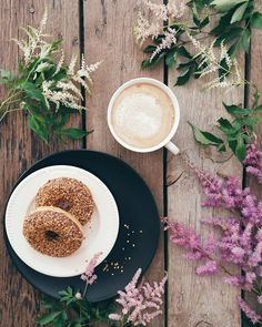 "simply-divine-creation: "" Justyna Niko "" #foodphotography #food #cappuccino #donuts"