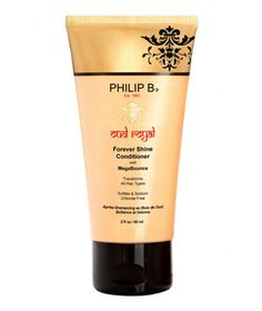 """Philip B Oud Royal Conditioner  """"Royal,"""" perhaps, because this innovative conditioner, which contains molecules that penetrate strands to deliver moisture, hydrates and de-frizzes, for the sort of healthy, glossy mane that has made a certain duchess a hair icon.  To buy: $30, us.spacenk.com."""