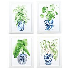 Ginger Jar Fern Prints - Home Decor Max D House, Chinoiserie Chic, Decorated Jars, Ginger Jars, White Bedroom, White Decor, Leaf Prints, Ferns, Just In Case