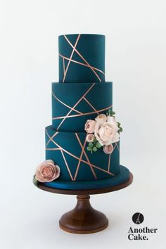 Hochzeitstortentrends 2019 - Another Cake Cool Wedding Cakes, Beautiful Wedding Cakes, Gorgeous Cakes, Wedding Cake Designs, Pretty Cakes, Cute Cakes, Amazing Cakes, Black Wedding Cakes, Elegant Birthday Cakes