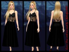 Amberlyn Designs Sims: Lace Dresses – new mesh • Sims 4 Downloads