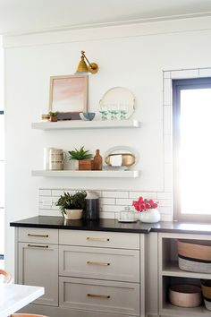 Cabinet color is sw repose gray we are want to say thanks if you like to sh Homemade Furniture, Cheap Furniture, Kitchen Furniture, Luxury Furniture, Outdoor Furniture, Refurbished Furniture, Furniture Online, Furniture Ideas, Sw Repose Gray
