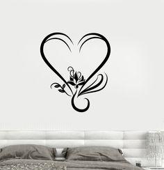 Vinyl Decal Lotus Yoga Love Romantic Room Decor Wall Stickers Decor (001ig)