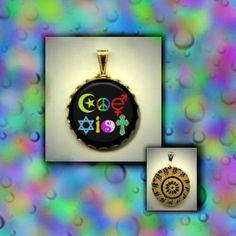 Coexist Symbols Tolerance Anti Discrimination Racism Sexism Equal Civil Rights Brass or Silve Charm/Necklace /Brooch /Key Chain photo jewelry altered art by Yesware11 on Etsy.. Click for details!
