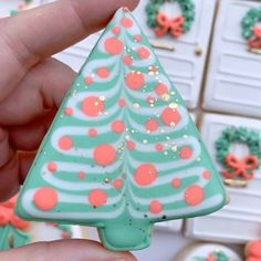Grace Gaylord (@the.graceful.baker) • Instagram photos and videos Tree Cookies, Sugar Cookies, Christmas Cookies, Christmas Ornaments, Tree Designs, Getting Old, Merry, Sweets, Holiday Decor