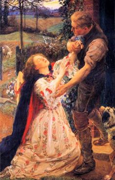 """""""Forgiven"""" -- by George Harcourt (British, 1869-1947)"""
