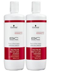 Schwarzkopf BC Bonacure Repair Rescue Shampoo and Conditioner liter duo with 2 free pumps and bag *** You can find more details by visiting the image link.(This is an Amazon affiliate link and I receive a commission for the sales)