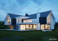 Häuser Architektur House project: LK & 1505 - Exclusive HOUSE project: Life at the highest level Modern Barn House, Modern House Design, Dream House Exterior, Dream House Plans, Villa Design, Facade Design, Modern Farmhouse Exterior, Modern Architecture House, Architect House