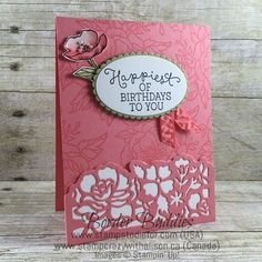 Stampin Up Detailed Floral Thinlit, Birthday Bloom, Birthday Card, but can be used for All Occasion