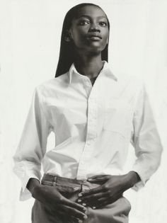 oluchi onweagba by david sims for gap spring summer 1999 ad campaign