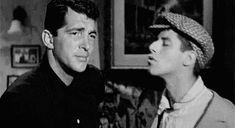 Dean Martin getting a smooch from Jerry Lewis (1950s) http://ift.tt/2h746Jb