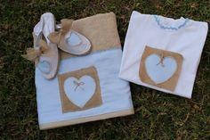 Toalla Yute-Corazón .Alpargatas y camiseta a juego