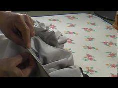 I sew a kimono和裁、女物袷の着物の縫い方、背縫いのとじ2 - YouTube