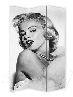 MONROE Folding Screens, Marilyn Monroe, Wall Stickers, Wall Murals, Canvas Prints, Artwork, House, Ideas, Beauty