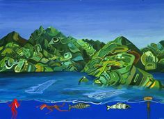 Usufruct, Lawrence Paul Yuxweluptun, 1995, 141 x 194 cm, acrylic on canvas, Private collection.