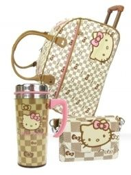 Hello Kitty Checkered Collection!  So adorable almost looks like Louis Vuitton!