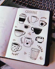 Um caFÉ zu nehmen, versäume caFÉ normalerweise nicht das Zeichnen, ultimame A Lápiz De Tareas Creativa ? Bullet Journal 2019, Bullet Journal Notebook, Bullet Journal Ideas Pages, Bullet Journal Inspiration, Doodle Art Drawing, Drawing Quotes, Coffee Doodle, Coffee Mug Drawing, Notebook Doodles