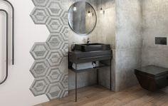 aranzacja nowoczesnej lazienki scratch ceramika paradyz Bathroom Interior Design, Bathroom Styling, Brick And Wood, Loft Style, Best Interior, Contemporary Interior, Interior Inspiration, Tile Floor, Concrete