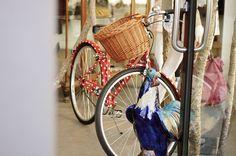polka dot bicycle with basket (shriek!@Teah Barrow)