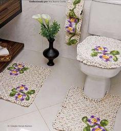 Receitas Círculo - Jogo de banheiro com flor