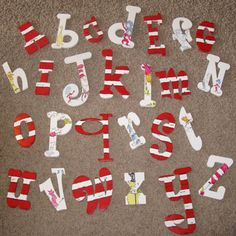 Dr Seuss letters for B's new room - $380 on this website so I will have to make my own